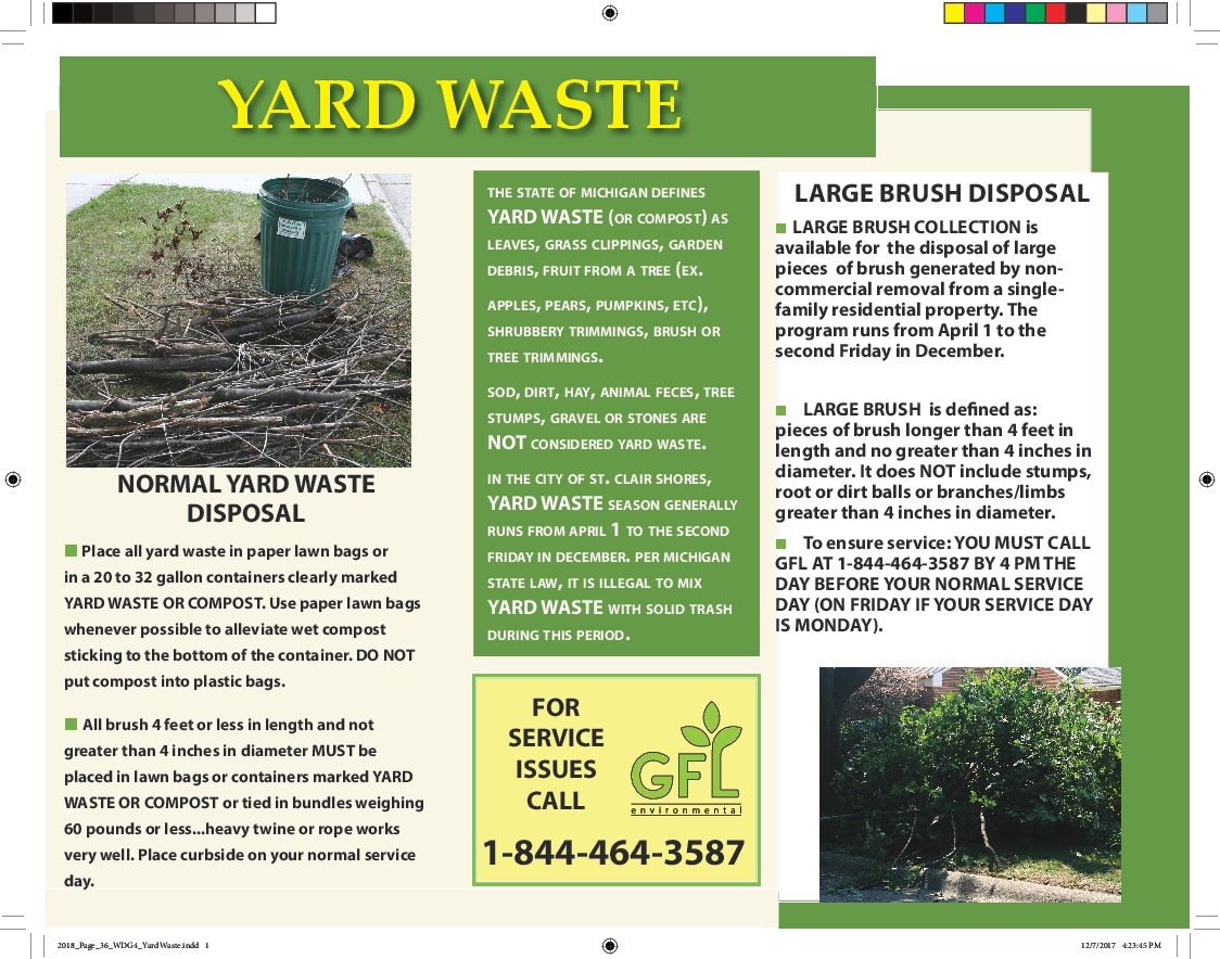 f8f630763022 Garbage/Recycling/Yard Waste | St. Clair Shores, MI - Official Website