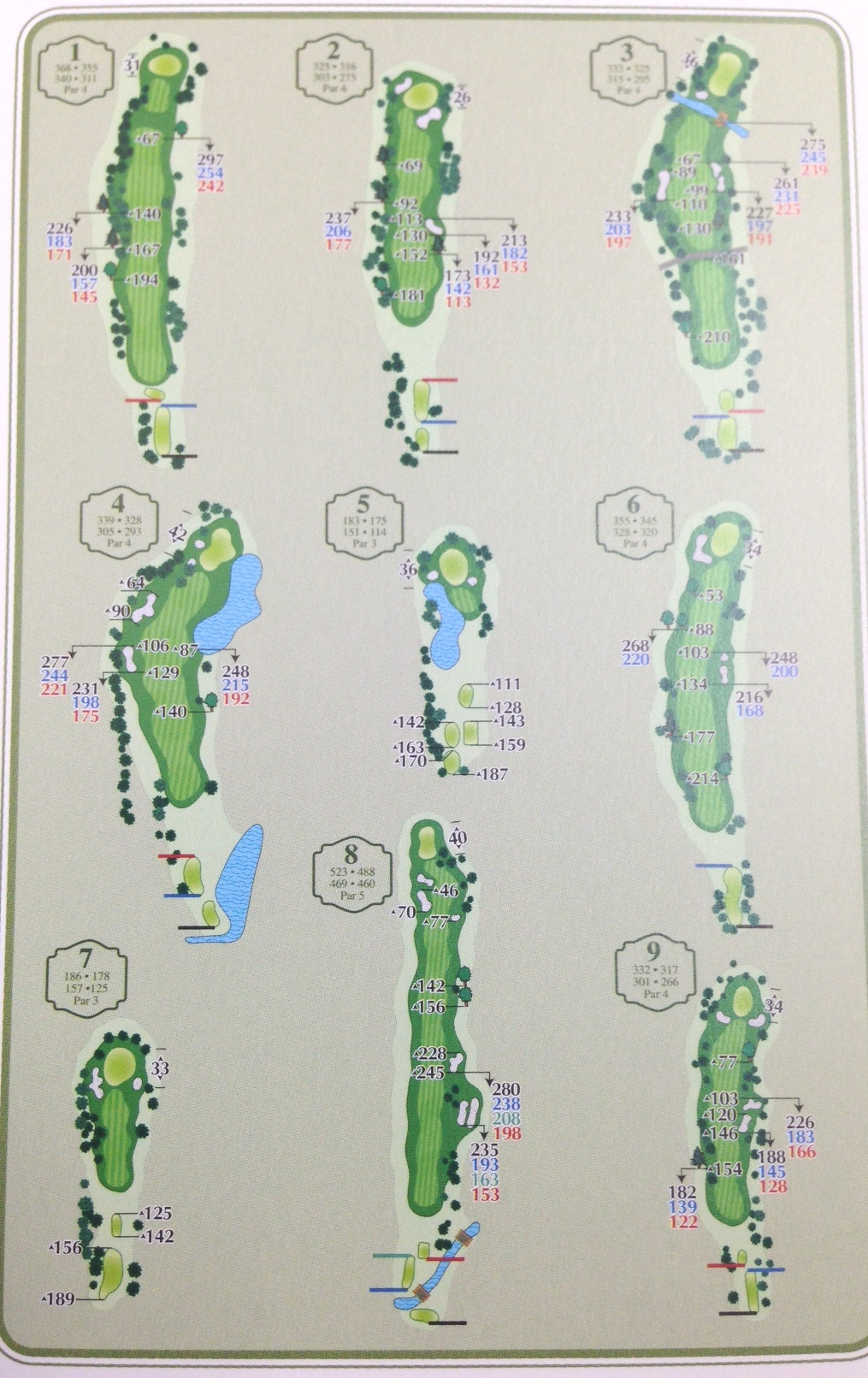 Front 9 Layout